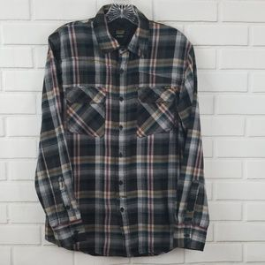 Volcom Workwear Plaid Button Down Overshirt